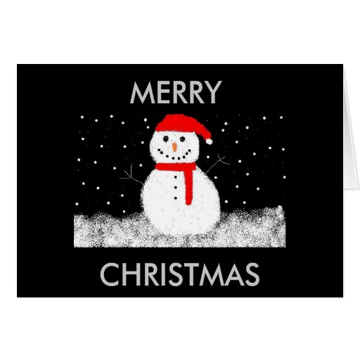 snowman, MERRY, CHRISTMAS Greeting Cards