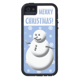 Snowman Merry Christmas iPhone 5 Case Tough Xtreme