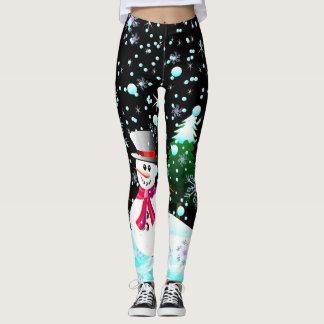 """Snowman """"Merry Christmas"""" personalised Leggings"""