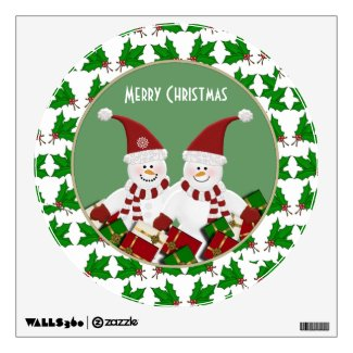 Snowman: Merry Christmas Wall Decal