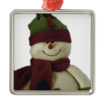 Snowman Metal Ornament