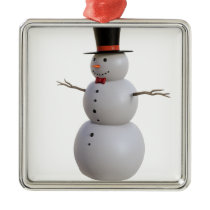 Snowman Metal Ornament