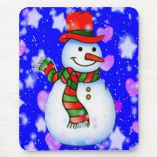 Snowman Mousepad mousepad