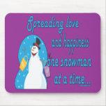 Snowman Mousepad - Customized Mouse Pads
