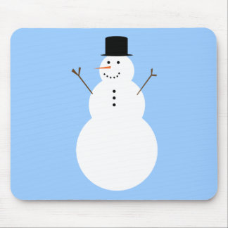 Snowman Mousepad in Light Blue