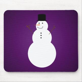 Snowman Mousepad in Purple