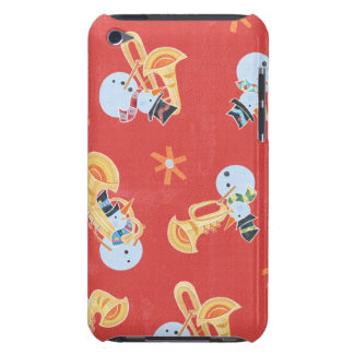 Snowman Musicians Making Christmas Holiday Music iPod Touch Cover