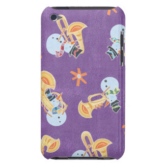 Snowman Musicians Making Christmas Holiday Music Barely There iPod Covers