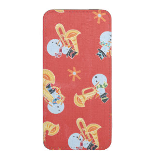 Snowman Musicians Making Christmas Holiday Music iPhone SE/5/5s/5c Pouch