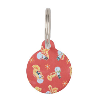 Music Round Pet Tags - Music Pet Name Tags | Zazzle