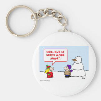 snowman needs more angst keychain