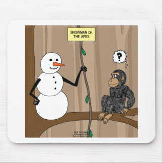 Snowman of the Apes Mouse Pad