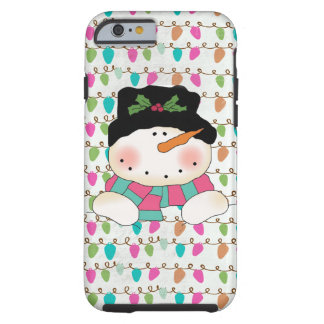 Snowman on Lights iPhone 6 Tough Case