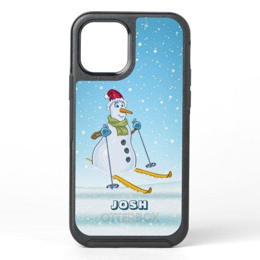 Snowman on Skis OtterBox Symmetry iPhone 12 Case