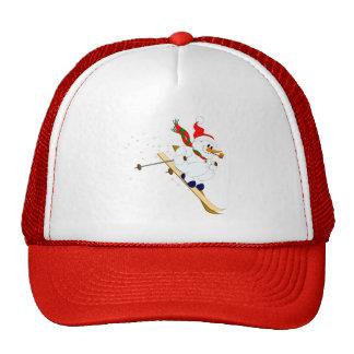 Snowman On Skis Trucker Hat