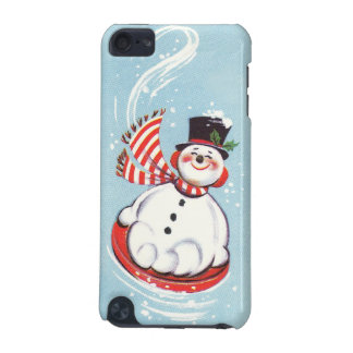 Snowman on Snow Disc iPod Touch 5G Cases