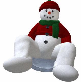 Snowman on Snow Disc Cutout