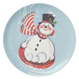 Snowman on Snow Disc