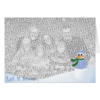 Snowman on the Bank Card