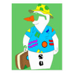 SNOWMAN ON VACATION POSTCARDS