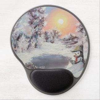 Snowman online gel mouse pad