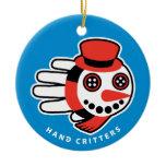 Hand shaped Snowman ornament