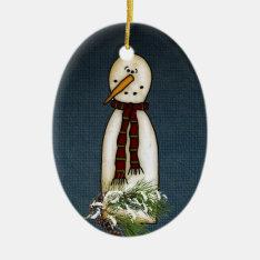 Snowman Ornament at Zazzle
