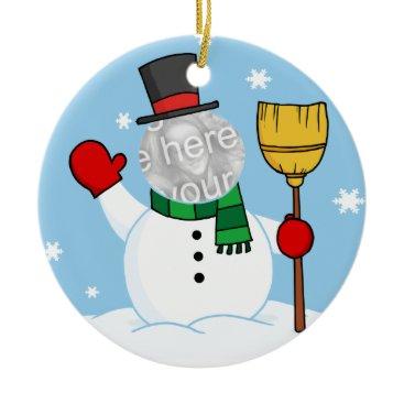 Christmas Themed Snowman Ornament