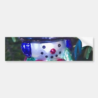 Snowman Ornament Bumper Sticker