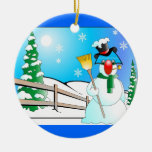 Snowman Ornament by Marcel Thomas