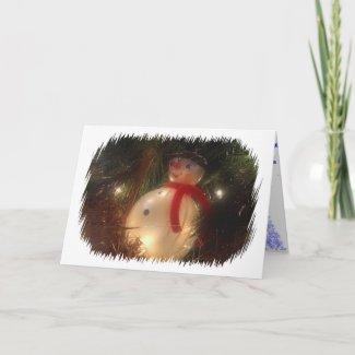 Snowman Ornament Card card