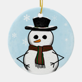 Snowman Ornament (double sided)