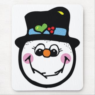 Snowman pad mouse pad