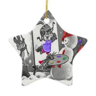 Snowman Painting Ornament ornament