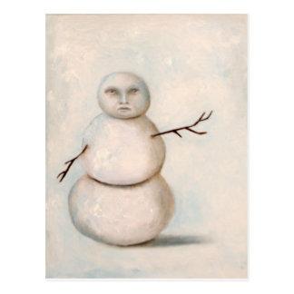 snowman painting postcards