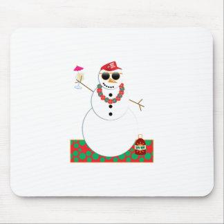 Snowman Party Mouse Pads