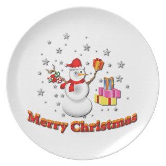 Snowman Party Plates