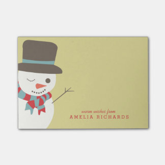 Snowman Party Post-it® Notes