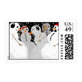 Snowman Party Postage
