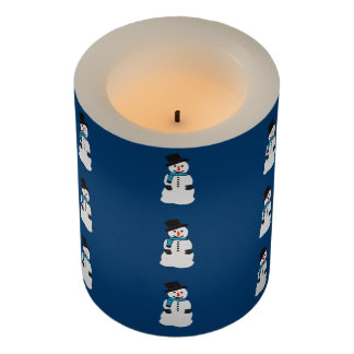 Snowman Pattern Flameless Candle