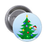 Snowman Peeking 2 Inch Round Button