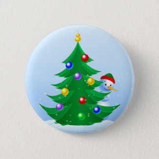 Snowman Peeking Button