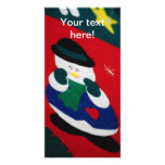 Snowman Personalized Photo Card