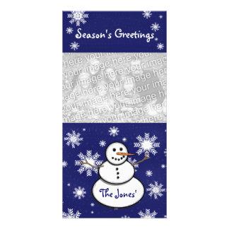 Snowman Photo Card