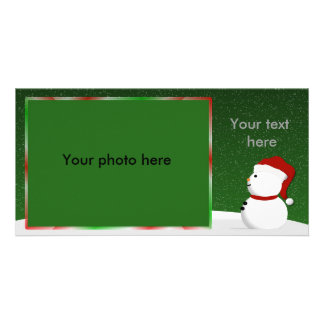 Snowman Photocard Personalized Photo Card