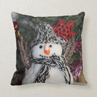 Snowman pillow Merry Christmas and Happy New Year