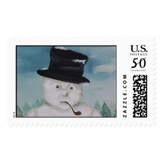 Snowman Pipe Postage