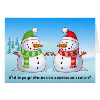 Snowman Playdate Christmas Card