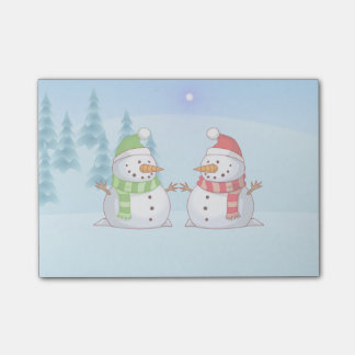 Snowman Playdate Post-it® Notes