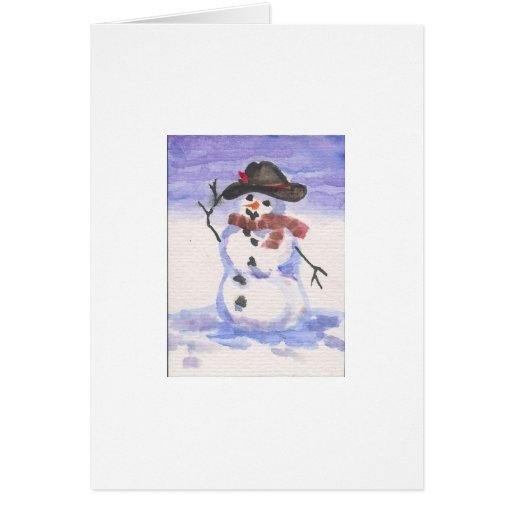 Snowman Playing Dress Up Greeting Card